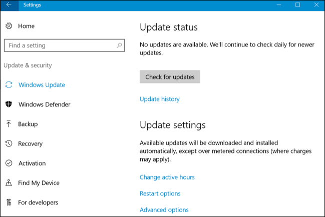 windows 10 update wont install on restart