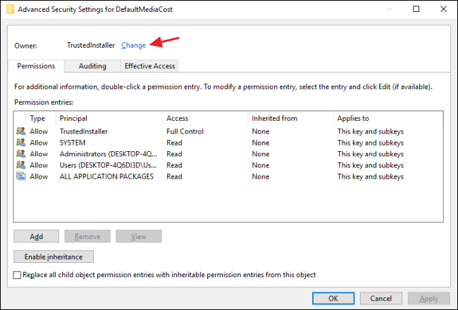 cannot edit disableantispyware