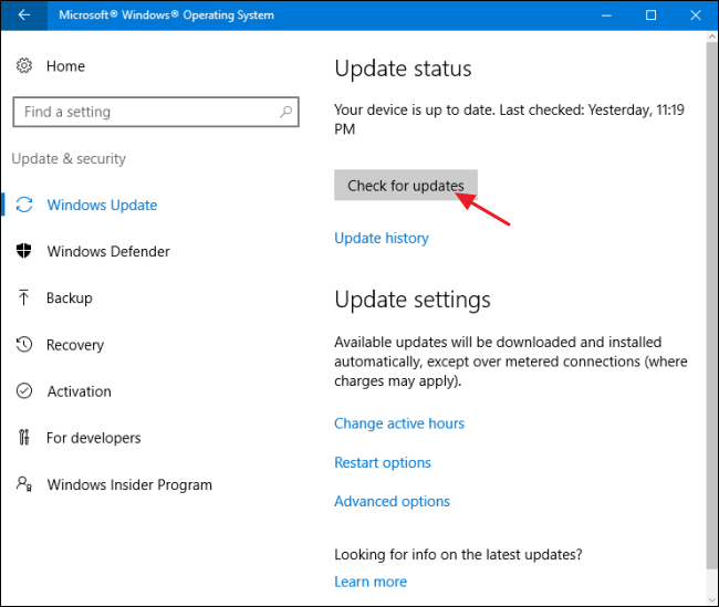 how to keep your windows pc and apps up to date rh howtogeek com how to manually do windows update in windows 10 how to manually do windows update