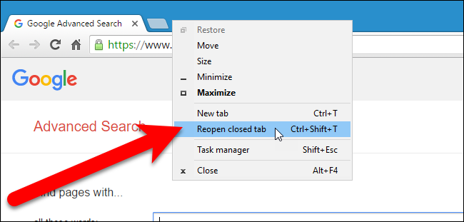 13 Tips to Surf Internet like a Professional Restore a Tab