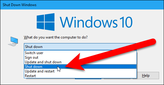 How to Shut Down a Windows PC Without Installing Updates