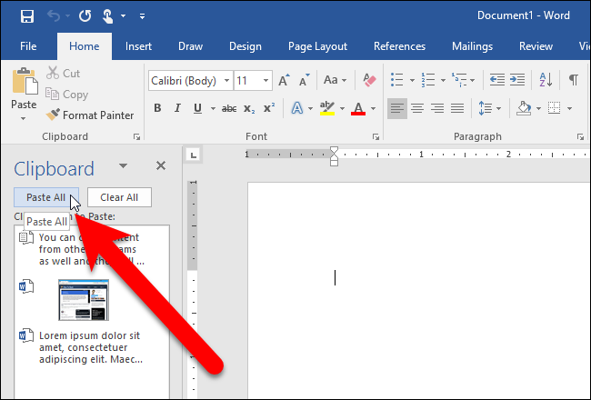 How to Use Microsoft Office's Built-In Clipboard