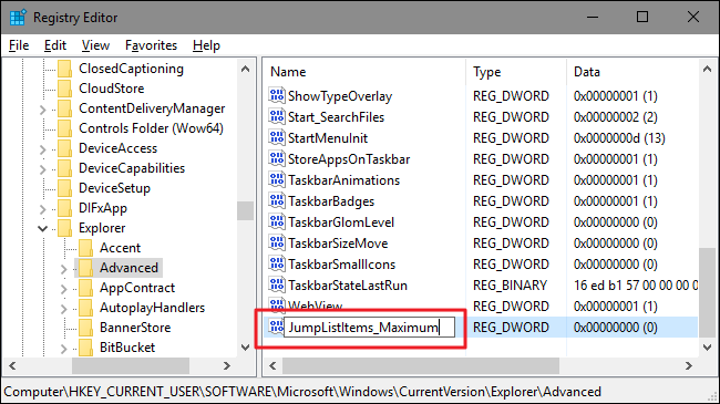 How to Increase the Number of Jump List Items in Windows 10 ilicomm Technology Solutions