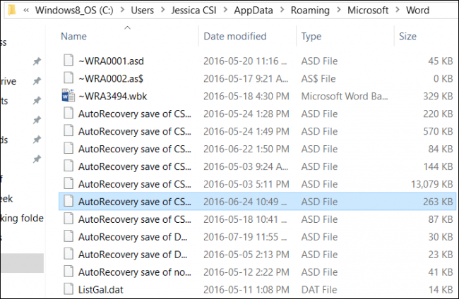 recover word document 2016