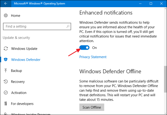 how to turn off windows defender registry