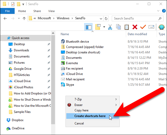 Send To, How To Add Dropbox & Other Crap To It