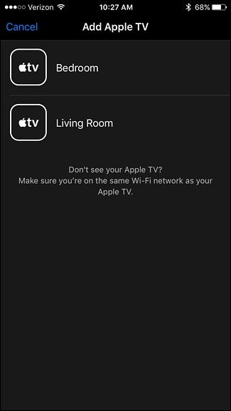 how to connect apple tv to iphone remote