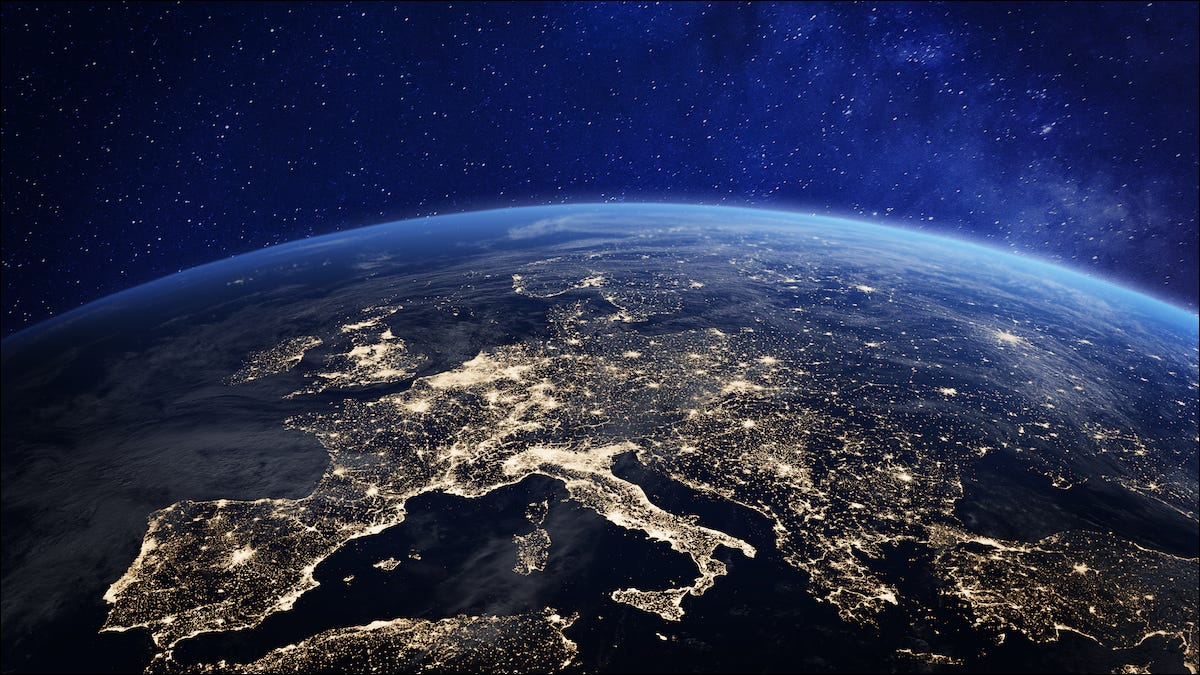 Earth and Europe seen from space