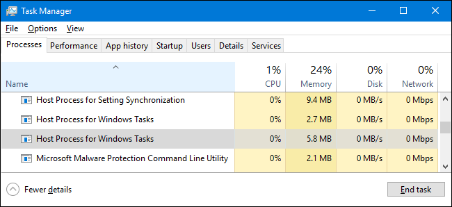 "What Is ""Host Process for Windows Tasks"", and Why Are So"