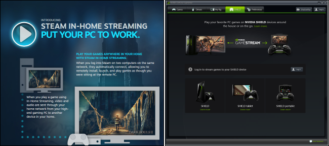 Steam In-Home Streaming vs  NVIDIA GameStream: What's the Difference?