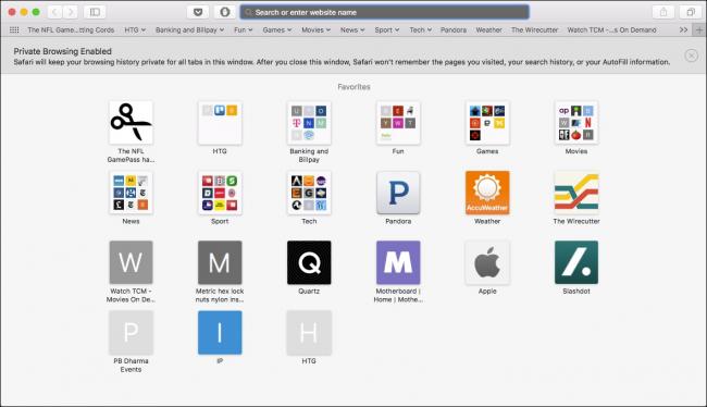 Browse in private in Safari on Mac