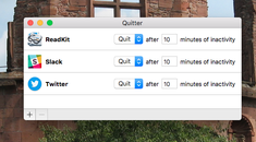 Automatically Close (or Hide) Idle Applications on Your Mac with Quitter