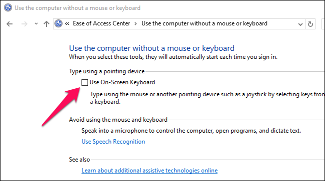 How to Stop Windows 10's Touch Keyboard from Appearing at Login
