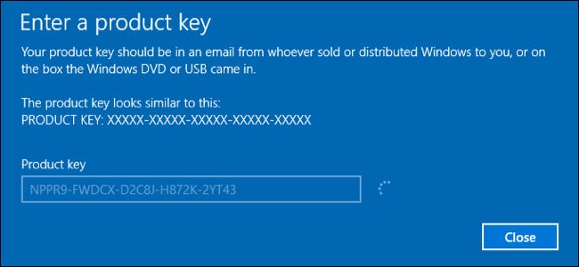 windows 10 activate windows 7 key