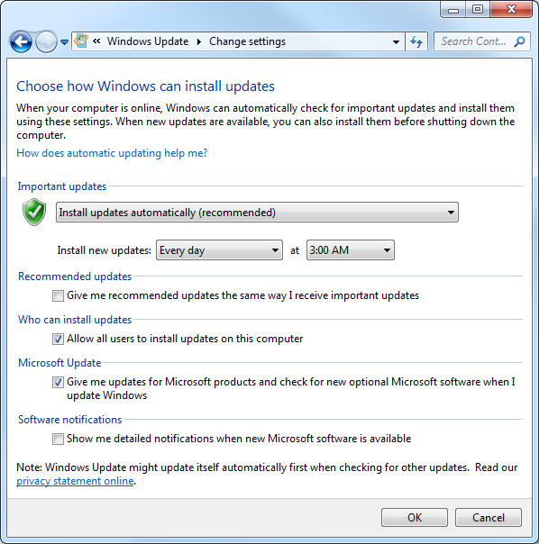 how to update software windows 7