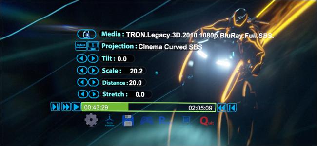 controlli applicazione Oculus Rift Video whirligig