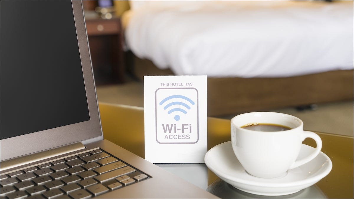 Wi-Fi sign in a hotel room