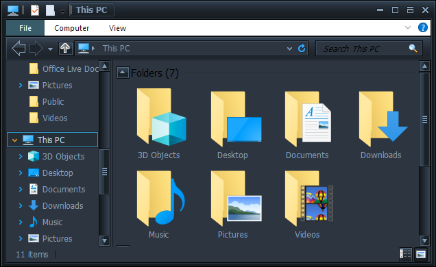 Heres A Shot Of File Explorer With The Dark Mode Skin Our Favorite Of The Various Dark Themes On The Site Applied Through Windowblinds