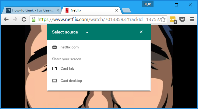 Can you use web browser on chromecast from chrome