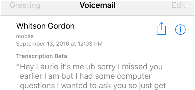 How to make ios 10 transcribe your voicemails into text m4hsunfo