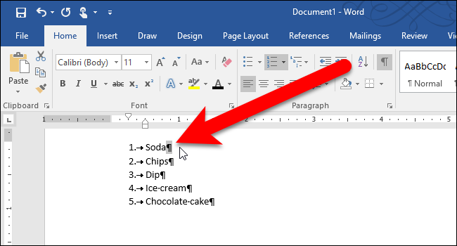 How To Format The Numbers Or Bullets In A List In