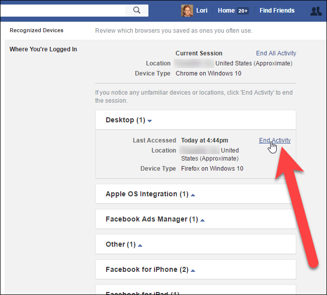 How to See Other Devices Logged Into Your Facebook Account