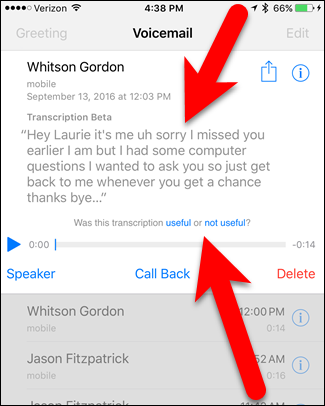 How to make ios 10 transcribe your voicemails into text 03transcription m4hsunfo
