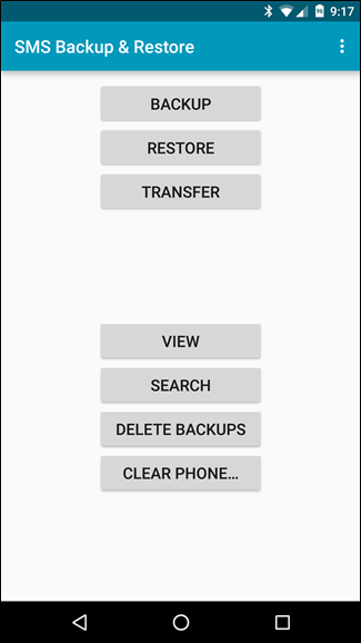 android text message archive app