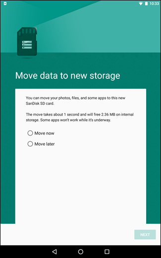 Free up storage on android