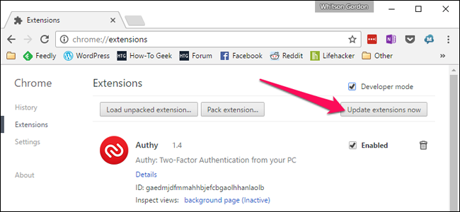 How to Manually Force Google Chrome to Update Extensions