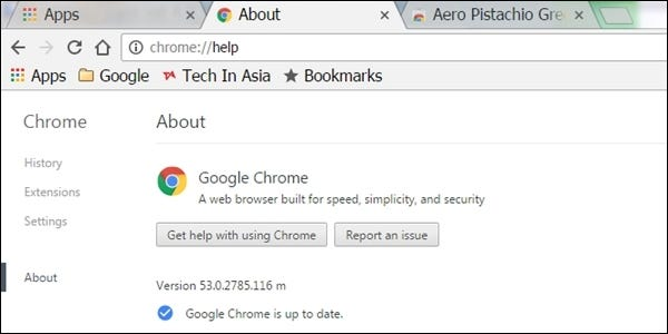 how do you check google chrome s version without it automatically