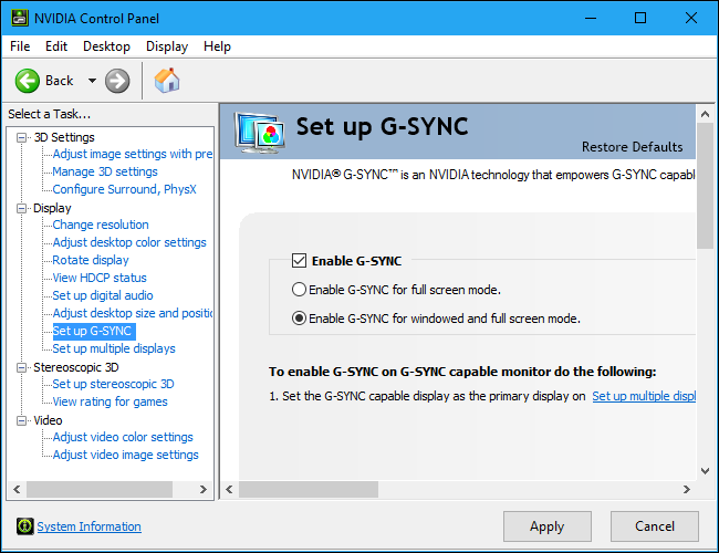 How to Enable, Optimize, and Tweak NVIDIA G-Sync