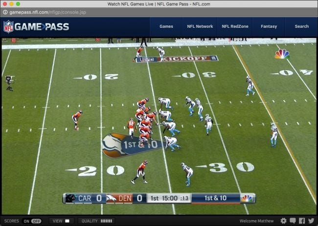 how to watch nfl games without cable