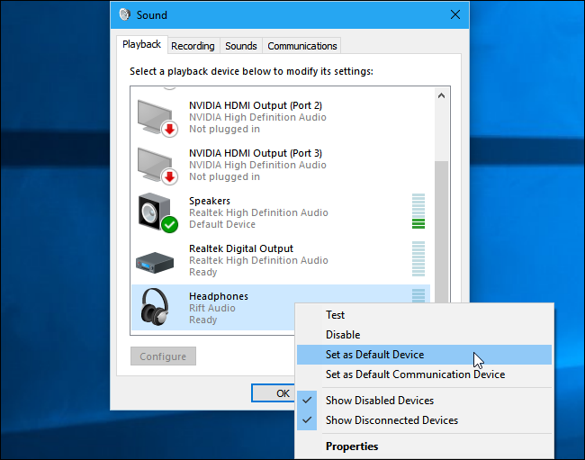 How to Change Your Audio Playback and Recording Devices on Windows
