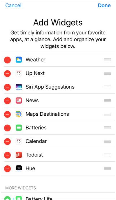 How to Rearrange Your Lock Screen Widgets in iOS 10