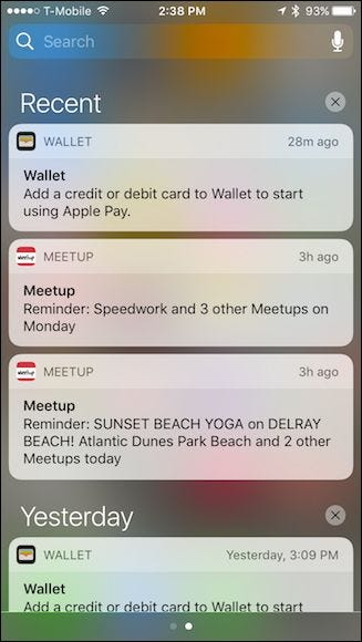 samsung how to see recent notifications