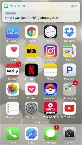 how to read a message without opening it iphone