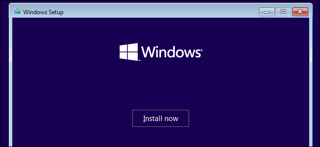 Installing Windows 10 on a Windows 7 system.