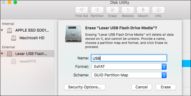 How to Format a Drive With the APFS File System on macOS Sierra