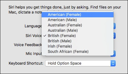 how to make siri have an english accent