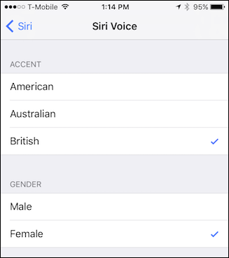 how to change siri s voice accent gender and language