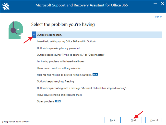 ms word 365 not responding