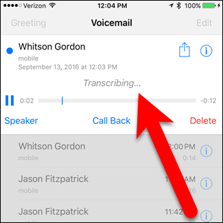 How to make ios 10 transcribe your voicemails into text 02transcribingandplaying m4hsunfo