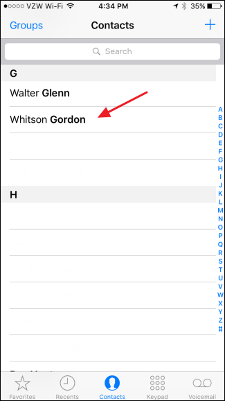 how to set a preferred contact method for contacts in ios 10