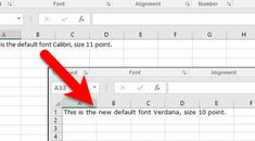 How to Set the Default Font and Font Size for New Workbooks in Excel