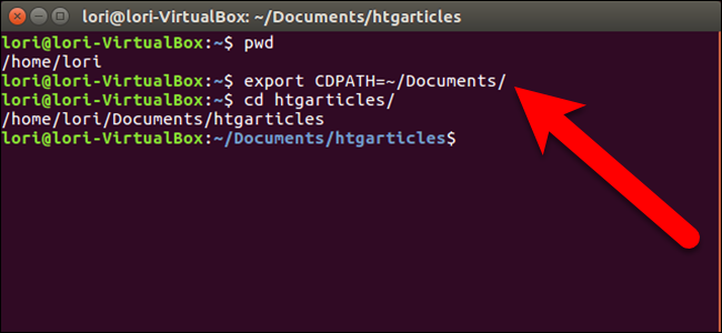 """How to Define the Base Directory for the """"cd"""" Command in Linux"""