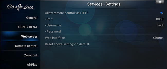 how to connect kodi to network server