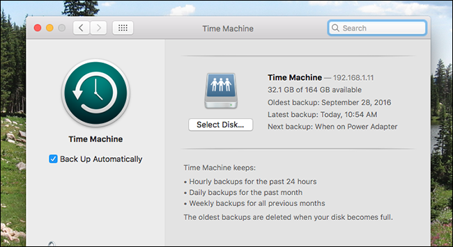 time machine backup not working