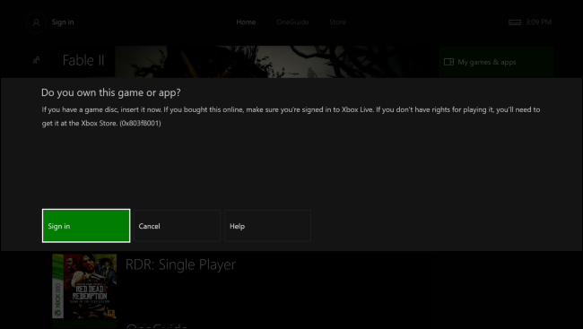 How to sign into xbox live 360 on one