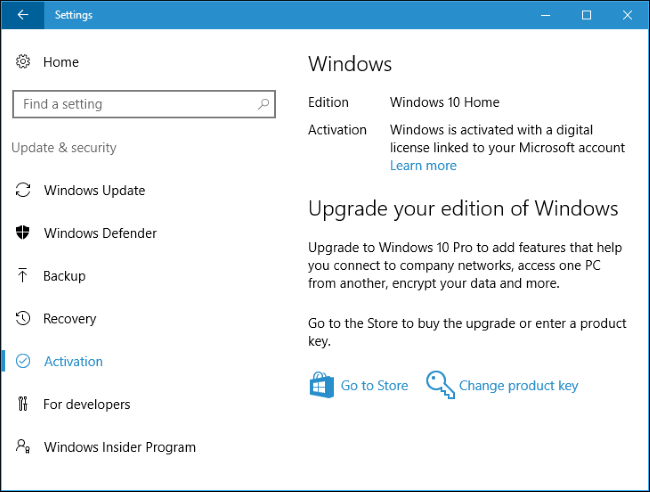 All the features that require a microsoft account in windows 10 youll see a windows is activated with a digital license linked to your microsoft account message at home update security activation if your digital ccuart Gallery